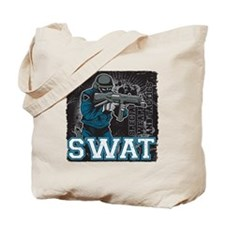 Police SWAT Team Member Tote Bag