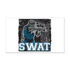 Police SWAT Team Member Rectangle Car Magnet