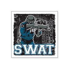 "Police SWAT Team Member Square Sticker 3"" x 3"""