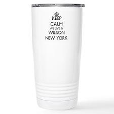 Keep calm we live in Wi Travel Mug
