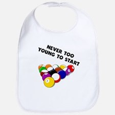 Never Too Young To Start Billiards Bib