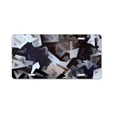 black white Aluminum License Plate
