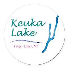 Keuka Lake Round Car Magnet