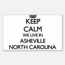Keep calm we live in Asheville North Carol Decal