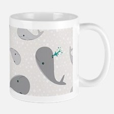 Cute Whale Mom and Baby Pattern Mug