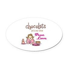 CHOCOLATE LOVER Oval Car Magnet