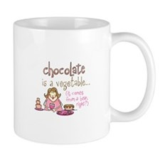 CHOCOLATE IS A VEGETABLE Mugs