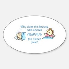 THE SPOUSE WHO SNORES Decal