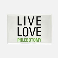 Live Love Phlebotomy Rectangle Magnet