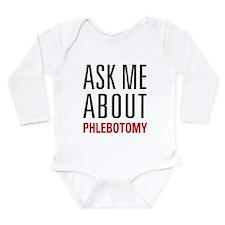 Phlebotomy Long Sleeve Infant Bodysuit