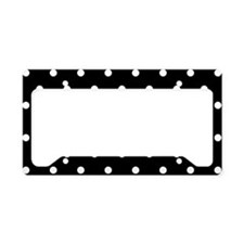 BLACK AND WHITE Polka Dots License Plate Holder