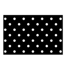 BLACK AND WHITE Polka Dots Postcards (Package of 8