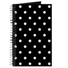BLACK AND WHITE Polka Dots Journal