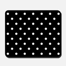 BLACK AND WHITE Polka Dots Mousepad