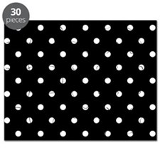 BLACK AND WHITE Polka Dots Puzzle