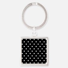 BLACK AND WHITE Polka Dots Keychains