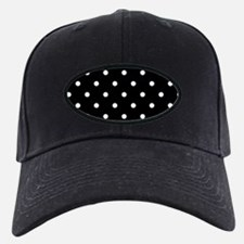 BLACK AND WHITE Polka Dots Baseball Hat