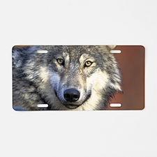 Wolf 024 Aluminum License Plate