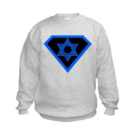 JEWISH HUMOR SUPER JEW TEE SH Kids Sweatshirt