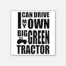 """Big Green Tractor Square Sticker 3"""" x 3"""""""