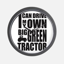 Big Green Tractor Wall Clock