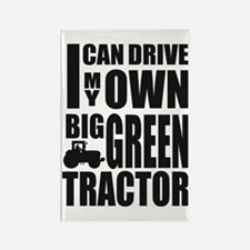 Big Green Tractor Rectangle Magnet