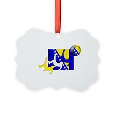Bosnia Soccer Ornament