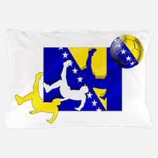 Bosnia Soccer Pillow Case