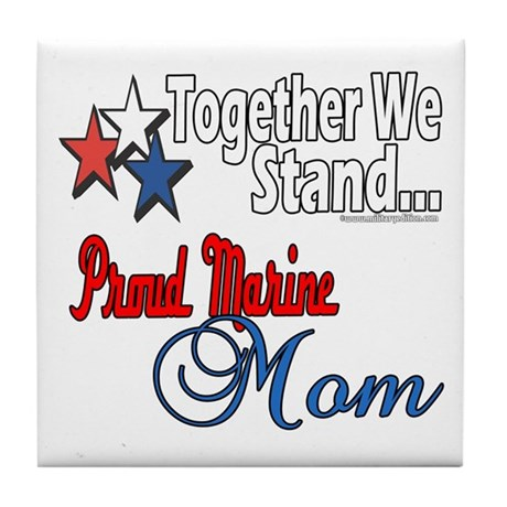 Proud Marine Mom Tile Coaster