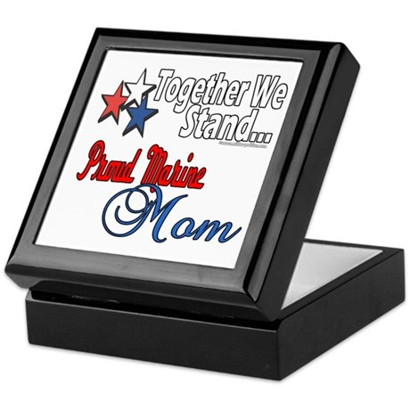 Proud Marine Mom Keepsake Box