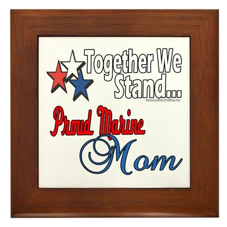 Proud Marine Mom Framed Tile