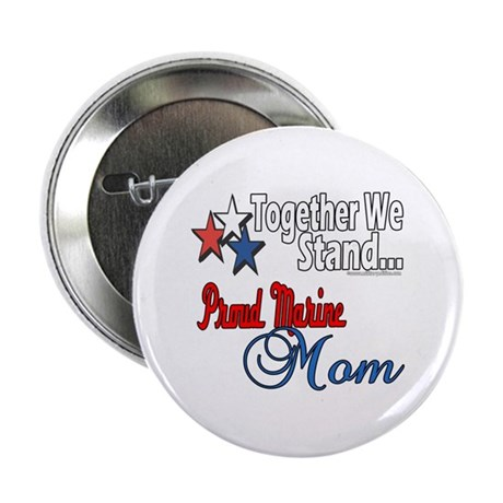 """Proud Marine Mom 2.25"""" Button (10 pack)"""
