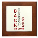 Chiropractor Framed Tiles