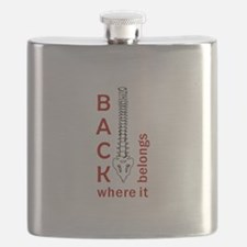 BACK WHERE IT BELONGS Flask
