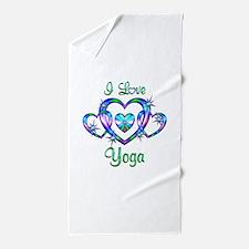 I Love Yoga Beach Towel