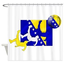 Bosnia Soccer Kick Shower Curtain