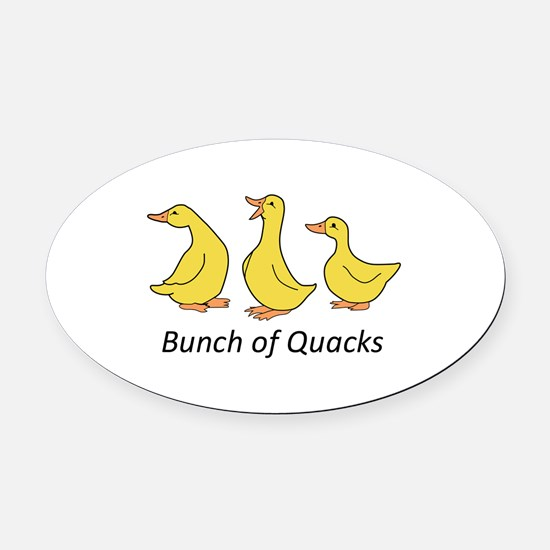 BUNCH OF QUACKS Oval Car Magnet