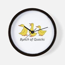 BUNCH OF QUACKS Wall Clock