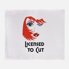 LICENSED TO CUT Throw Blanket