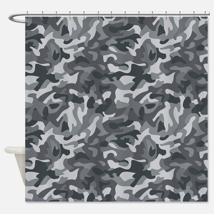 Gray Camo Shower Curtains Gray Camo Fabric Shower Curtain Liner