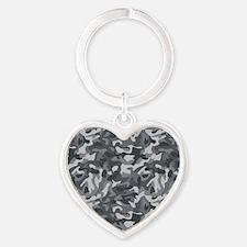 Urban Camo Heart Keychain