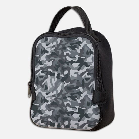 Urban Camo Neoprene Lunch Bag