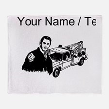 Tow Truck Driver (Custom) Throw Blanket