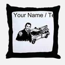 Tow Truck Driver (Custom) Throw Pillow