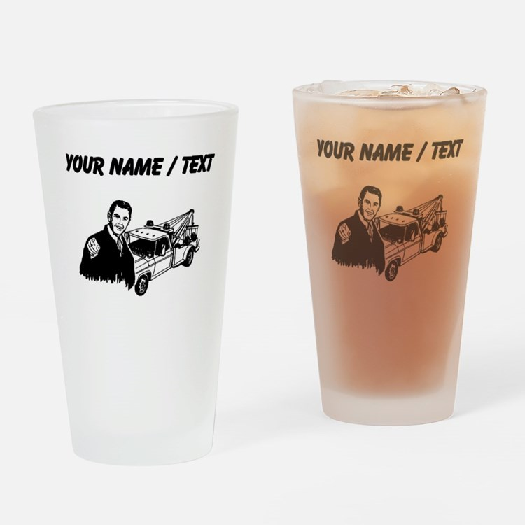 Tow Truck Driver (Custom) Drinking Glass