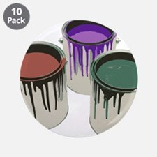 "Paint cans 3.5"" Button (10 pack)"