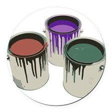 Paint cans Round Car Magnet