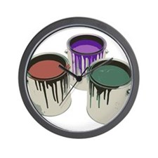 Paint cans Wall Clock