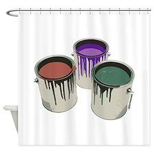 Paint cans Shower Curtain