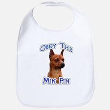 Min Pin Obey Bib